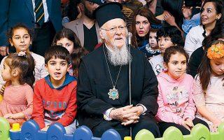 Ο Οικουμενικός Πατριάρχης κ.κ. Βαρθολομαίος δίνει πάντα το «παρών» σε όλες τις χριστουγεννιάτικες παιδικές εορτές.