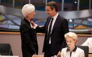 Ο Κυριάκος Μητσοτάκης αναφέρθηκε στην ανάγκη μείωσης των πρωτογενών πλεονασμάτων του 3,5% από το 2021, ήδη στην τελευταία Σύνοδο Κορυφής της Ε.Ε., ενώ έθεσε το θέμα και στη νέα πρόεδρο της ΕΚΤ, Κριστίν Λαγκάρντ, που είναι υποστηρικτική προς τις ελληνικές θέσεις.