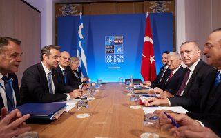 Μεγάλο μέρος της συζήτησης αφιερώθηκε στο μεταναστευτικό - προσφυγικό, όπου ο κ. Μητσοτάκης στάθηκε στο γεγονός ότι η τουρκική ακτοφυλακή δεν συνεργάζεται και, όπως σημείωσε, «απαντά μία στις 20 κλήσεις μας». Zήτησε να εφαρμοστεί πλήρως η συμφωνία της Ε.Ε. με την Τουρκία και πρόσθεσε ότι πρέπει «να τη στηρίξουμε απολύτως, γιατί είναι αμοιβαία ωφέλιμη. Κι εμείς θα σας στηρίξουμε να πάρετε πρόσθετη οικονομική βοήθεια». INTIME NEWS
