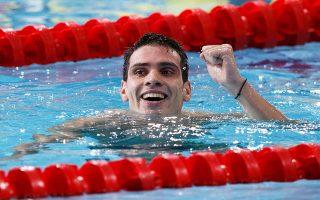 Ο Ανδρέας Βαζαίος κατέκτησε δύο χρυσά μετάλλια και ένα χάλκινο στο ευρωπαϊκό πρωτάθλημα κολύμβησης στη Γλασκώβη.