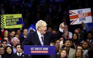 Εκλεγμένος με το σύνθημα Get Brexit done (υλοποιούμε το Brexit), ο Μπόρις Τζόνσον έχει αυτοδεσμευθεί στην ημερομηνία της 31ης Δεκεμβρίου 2020. Oι εκτιμήσεις κατατείνουν στο ότι είτε θα αποδεχθεί μια συμφωνία πολύ διαφορετική από αυτή που υπόσχεται (κρατώντας τη Βρετανία πολύ πιο κοντά στην Ε.Ε.) είτε θα μεταθέσει ακόμη μακρύτερα τον χρονικό ορίζοντα της βρετανικής αποχώρησης.