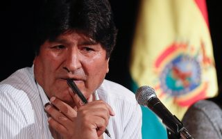 epa08077359 The former president of Bolivia Evo Morales during a press conference tuesday in the City of Buenos Aires, Argentina 17 December 2019. The former president of Bolivia Evo Morales, who arrived in Argentina last thursday and has been granted refugee status, said on 17 December in Buenos Aires that he is not afraid of a possible detention, stating that he was the victim of a coup and reiterated that he will not be a candidate in the next elections of his country.  EPA/Juan Ignacio Roncoroni