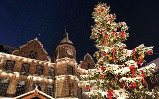 Το πανύψηλο χριστουγεννιάτικο δέντρο στην πλατεία του δημαρχείου. (Φωτογραφία: Shutterstock)