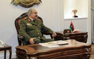 Ο Λίβυος στρατάρχης Χαλίφα Χαφτάρ.