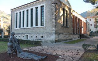 Αποψη του Δημοτικού Μουσείου Καλαβρυτινού Ολοκαυτώματος.