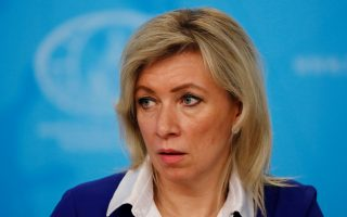 FILE PHOTO: Russian Foreign Ministry spokeswoman Maria Zakharova attends a news conference in Moscow, Russia, January 17, 2020. REUTERS/Shamil Zhumatov/File Photo