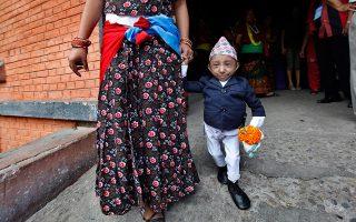 Ο Καγκέντρα Θάπα Μάγκαρ σε ηλικία 17 ετών. (AP Photo/Gemunu Amarasinghe)