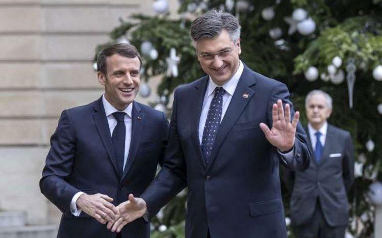 Κροάτης πρωθυπουργός: Μπορεί να αλλάξει η στάση Μακρόν κατά της διεύρυνσης στα Δυτικά Βαλκάνια