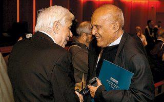 Ο ΠτΔ Προκόπης Παυλόπουλος με τον Μαγκντί Γιακούμπ.