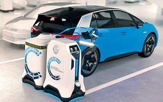 Το ρομπότ φόρτισης προτείνεται ως εναλλακτική στην αναζήτηση των δυσεύρετων σταθμών. Είναι εξοπλισμένο με κάμερες, σαρωτές λέιζερ και αισθητήρες υπερήχων και μπορεί να κυκλοφορεί ακόμα και σε στριμωγμένους χώρους.