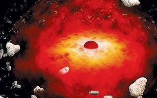 Kαλλιτεχνική απεικόνιση από τη NASA της υπερμεγέθους μαύρης τρύπας που βρίσκεται στο κέντρο του γαλαξία μας.