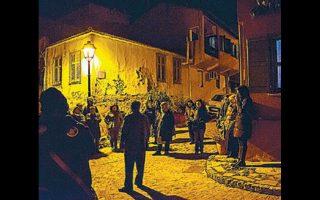 Στιγμιότυπο από τους ιστορικούς περιπάτους στη Θεσσαλονίκη.