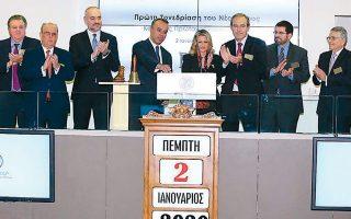 Ο υπουργός Οικονομικών Χρήστος Σταϊκούρας παρουσίασε τους στόχους της οικονομικής πολιτικής για το 2020, στον χαιρετισμό του κατά την έναρξη της πρώτης συνεδρίασης του Χρηματιστηρίου για τη νέα χρονιά.