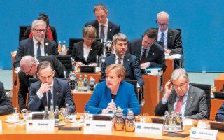 H Aγκελα Μέρκελ στην πολυσυζητημένη σύνοδο του Βερολίνου για τη Λιβύη. Τα αποτελέσματά της, προς το παρόν τουλάχιστον, είναι πενιχρά.