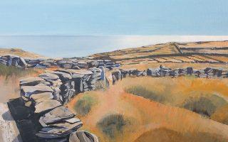 Τμήμα έργου του Γιώργου Σαλταφέρου, από την ατομική έκθεση «Just Andros» στην Gallery Genesis, Χάριτος 35, Κολωνάκι. Η έκθεση θα διαρκέσει έως την 1η Φεβρουαρίου.