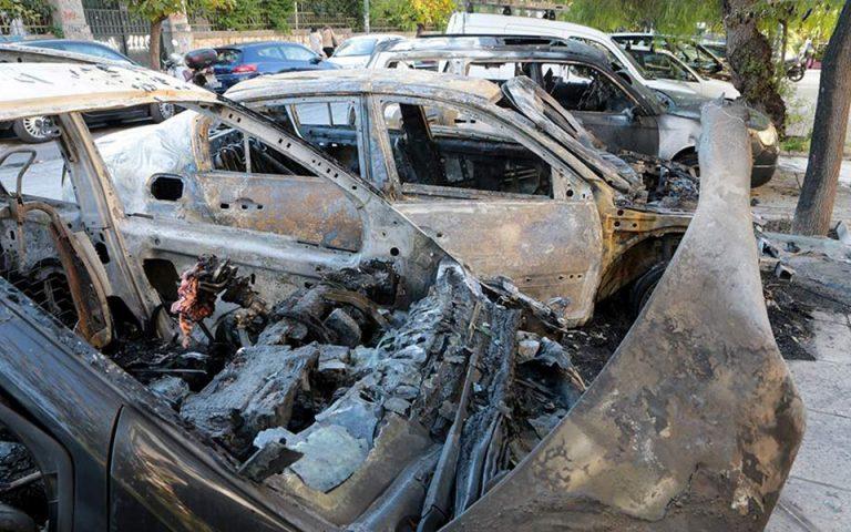 Ανάληψη ευθύνης για δέκα εμπρηστικές επιθέσεις