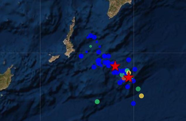 Σεισμός 4,2 Ρίχτερ ανατολικά της Καρπάθου