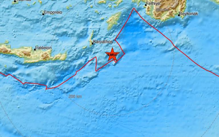 Γεωδυναμικό: Στα 5,3 Ρίχτερ ο σεισμός στην Κάρπαθο – Λέκκας: η σεισμική δραστηριότητα στη συγκεκριμένη περιοχή επιμένει