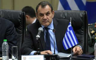 (ΞΕΝΗ ΔΗΜΟΣΙΕΥΣΗ) O υπουργός Εθνικής Άμυνας Νίκος Παναγιωτόπουλος (φώτο) και ο υπουργός  Άμυνας της Κυπριακής Δημοκρατίας Σάββας Αγγελίδης (δεν εικονίζεται) προήδρευσαν των εργασιών του 6ου Διακυβερνητικού Συμβουλίου Άμυνας Ελλάδας - Κύπρου, το οποίο πραγματοποιήθηκε στο Υπουργείο Εθνικής Άμυνας, Τρίτη 28 Ιανουαρίου 2020. Σκοπός του Συμβουλίου είναι η εμβάθυνση και η προώθηση θεμάτων αμυντικής συνεργασίας των δύο χωρών. ΑΠΕ-ΜΠΕ/ΓΡΑΦEIO ΤΥΠΟΥ ΥΠΕΘΑ/STR