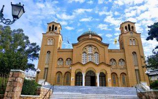 Ο Ιερός Ναός της Αγίας Φωτεινής, βασικό τοπόσημο της Νέας Σμύρνης.
