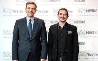 Νίκος Εμμανουηλίδης, Πρόεδρος και Διευθύνων Σύμβουλος της Nestlé Ελλάς, Λευτέρης Αραπάκης, General Director & Co-founder της Εναλεία