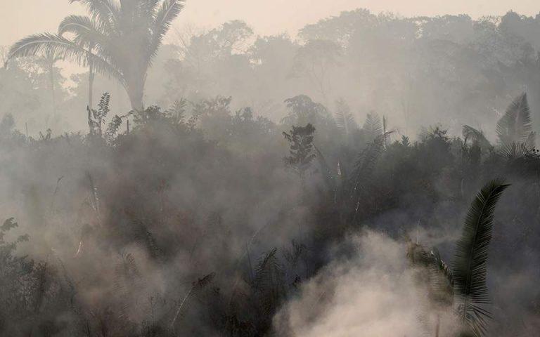 Κατά 30% αυξήθηκαν οι πυρκαγιές στο τροπικό δάσος του Αμαζονίου το 2019
