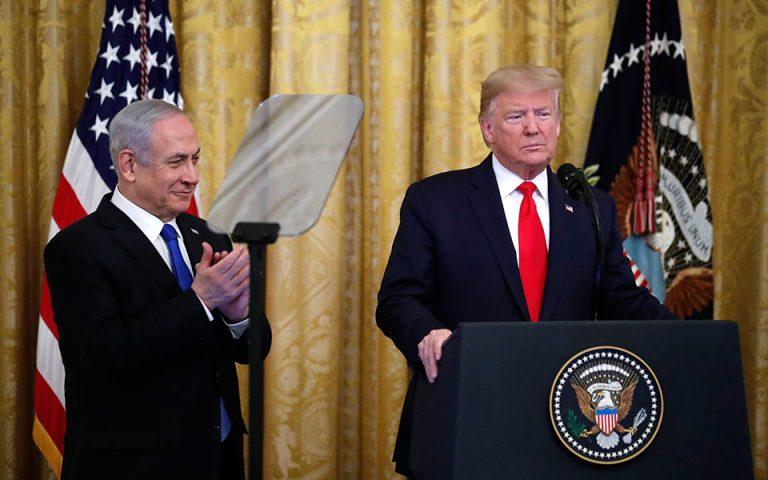 Παλαιστινιακό κράτος με πρωτεύουσα στην ανατολική Ιερουσαλήμ προτείνει ο Τραμπ