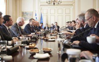 (Ξένη Δημοσίευση)  Ο πρωθυπουργός Κυριάκος Μητσοτάκης μιλά στη συνεδρίαση του υπουργικού συμβουλίου, στο Μέγαρο Μαξίμου, Αθήνα , Πέμπτη 30 Ιανουαρίου 2020 . Υπό την προεδρία του πρωθυπουργού συνεδρίασε το υπουργικό Συμβούλιο με Θέματα της συνεδρίασης : Παρουσίαση νομοσχεδίου για τη δημόσια υγεία (Υπουργείο Υγείας) νομοσχεδίου του Υπουργείου Εσωτερικών: «Στρατηγική Αναπτυξιακή Προοπτική Οργανισμών Τοπικής Αυτοδιοίκησης, Τροποποιήσεις Κώδικα Ιθαγένειας, Ρυθμίσεις για το ανθρώπινο δυναμικό της Δημόσιας Διοίκησης» νομοσχεδίου Υπουργείου Ναυτιλίας και Νησιωτικής Πολιτικής για τον εκσυγχρονισμό του θεσμικού πλαισίου των θαλάσσιων ενδομεταφορών νομοσχεδίου του Υπουργείου Αγροτικής Ανάπτυξης και Τροφίμων για οργανωτικά και λειτουργικά θέματα του  νομοσχεδίου του Υπουργείου Τουρισμού για τον καταδυτικό τουρισμό , Συγκρότηση Κυβερνητικής Επιτροπής για τη Δίκαιη Αναπτυξιακή Μετάβαση στη μεταλιγνιτική εποχή  , Εφαρμογή νόμου για το επιτελικό κράτος, νέα νομοπαρασκευαστική διαδικασία , Εθνικού Σχεδίου Κυβερνητικής Πολιτικής και σχεδίου , Ενημέρωση για τις εξελίξεις στην αντιμετ