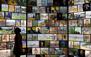 Μια γνωριμία. Είναι δημιουργία του μουσείου Van Gogh και θα γυρίσει τον κόσμο. Η έκθεση «Meet Vincent van Gogh» ανοίγει στις 7 του μήνα τις πύλες της για το κοινό, φέρνοντας τον σπουδαίο καλλιτέχνη από το Αμστερνταμ στο Λονδίνο.  EPA/NEIL HALL