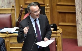 O υπουργός Οικονομικών κ. Χρήστος Σταϊκούρας.