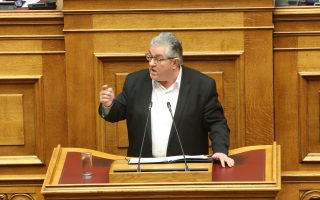 Ο Γ.Γ. της ΚΕ του ΚΚΕ Δημήτρης Κουτσούμπας μιλά στη σημερινή ειδική συνεδρίαση στη Βουλή, σε επίπεδο πολιτικών αρχηγών, με αντικείμενο την ενημέρωση του σώματος για την κυβερνητική πολιτική σχετικά με τα εργασιακά θέματα, Παρασκευή 14 Φεβρουαρίου 2020. ΑΠΕ-ΜΠΕ/ΑΠΕ-ΜΠΕ/Αλέξανδρος Μπελτές