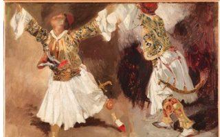 Εργο του Ευγένιου Ντελακρουά: «Πολεμιστές Χορεύουν»