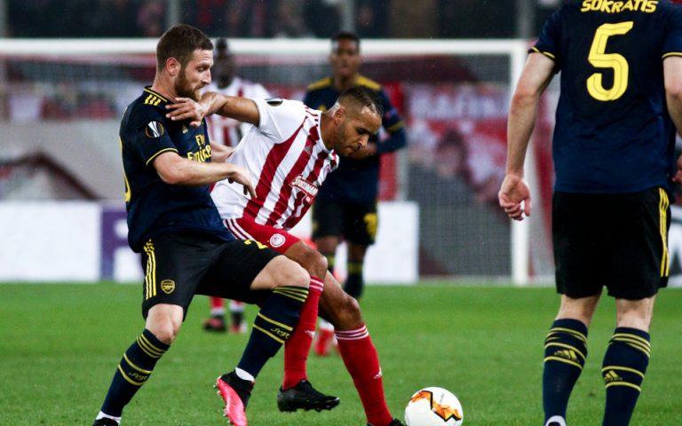 Europa League: Ηττα για τον Ολυμπιακό (0-1) και προβάδισμα πρόκρισης για τους «κανονιέρηδες»