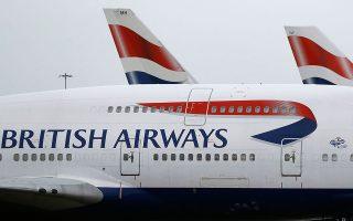Αεροσκάφος της British Airways στο αεροδρόμιο του Χίθροου.