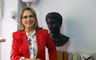 Η κ. Αθηνά Χατζηπέτρου.