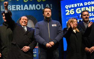 Ο μόνος Ιταλός πολιτικός που έχει ξεπεράσει τον Ματέο Σαλβίνι σε δικαστικές υποθέσεις είναι ο Σίλβιο Μπερλουσκόνι. A.P.