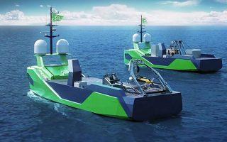 Ψηφιακή αναπαράσταση των μη επανδρωμένων σκαφών επιφανείας (USV), τα οποία η εταιρεία Ocean Infinity πρότεινε να αναλάβουν το εγχείρημα.