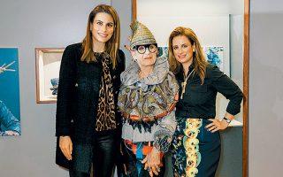 Η Λάουρα Δράγνη με την Ντ. Ράποπορτ και την Ιωάννα Λαλαούνη.