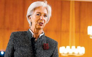 Η Κριστίν Λαγκάρντ υπογράμμισε πως η αβεβαιότητα γύρω από τον κορωνοϊό αποτελεί μια νέα πηγή ανησυχίας για την οικονομία.