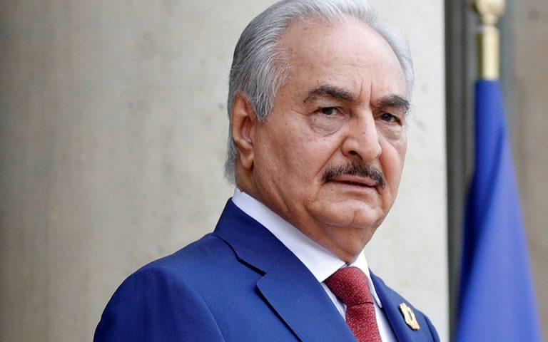 Χαφτάρ: Η εκεχειρία θα εξαρτηθεί από την απόσυρση της Τουρκίας