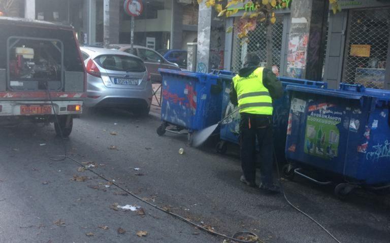 Μεγάλη παρέμβαση καθαριότητας από τον Δήμο Αθηναίων στο Παγκράτι
