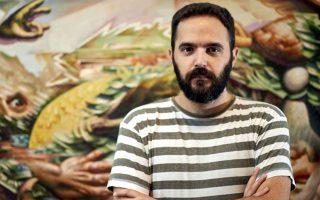 Ο Ηρακλειώτης ζωγράφος Νίκος Μόσχος.