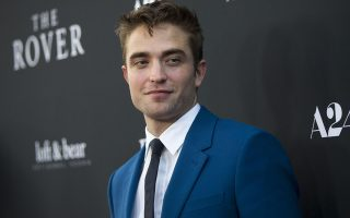 Cast member Robert Pattinson poses at the premiere of