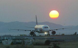 Ηλιοβασίλεμα στο αεροδρόμιο του Ηρακλείου. Ηράκλειο Πέμπτη 15 Σεπτεμβρίου 2005