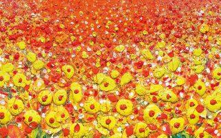 «Στη γωνιά κάποιου ξένου αγρού», έργο της Αγγλίδας ζωγράφου Σκάρλετ Χέιβεν, εμπνευσμένο από το κλασικό ποίημα του Ρούπερτ Μπρουκ «Ο στρατιώτης».