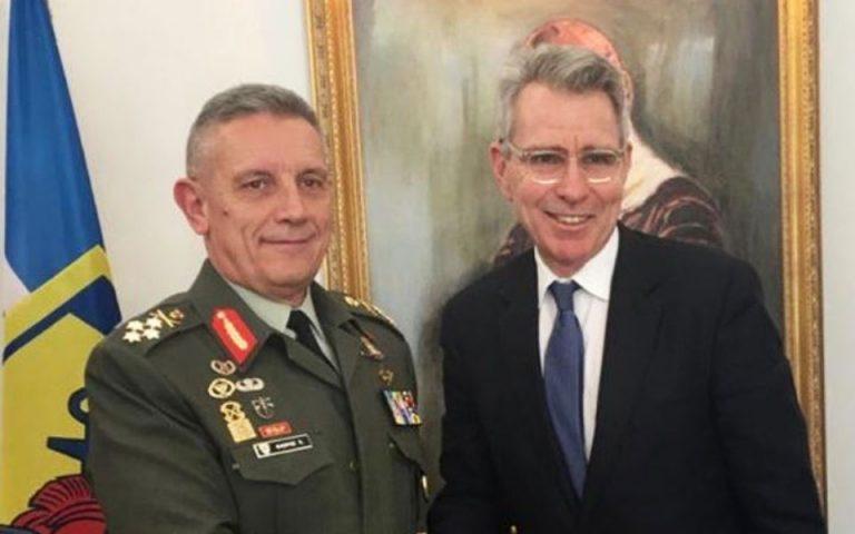 Συνάντηση Αρχηγού ΓΕΕΘΑ με τον πρέσβη των ΗΠΑ Τζέφρι Πάιατ