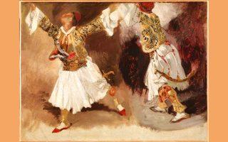 """Έργο του Ευγένιου Ντελακρουά: """"Πολεμιστές χορεύουν"""""""