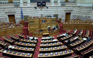 Ο υπουργός Εργασίας και Κοινωνικών Υποθέσεων Γιάννης Βρούτσης μιλά στην ολομέλεια της Βουλής Τρίτη 28 Ιανουαρίου 2020. Συνεδρίασε η ολομέλεια της Βουλής με θέμα την συζήτηση και ψήφιση επί της αρχής, των άρθρων και του συνόλου του σχεδίου νόμου: «Επίδομα γέννησης και λοιπές διατάξεις». ΑΠΕ-ΜΠΕ/ΑΠΕ-ΜΠΕ/Παντελής Σαίτας
