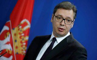 O Σέρβος πρόεδρος Αλεξάνταρ Βούτσιτς.