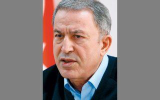 Αισιόδοξος για τις προοπτικές ειρήνευσης στο Ιντλίμπ εμφανίστηκε ο Τούρκος υπουργός Αμυνας Χουλουσί Ακάρ.